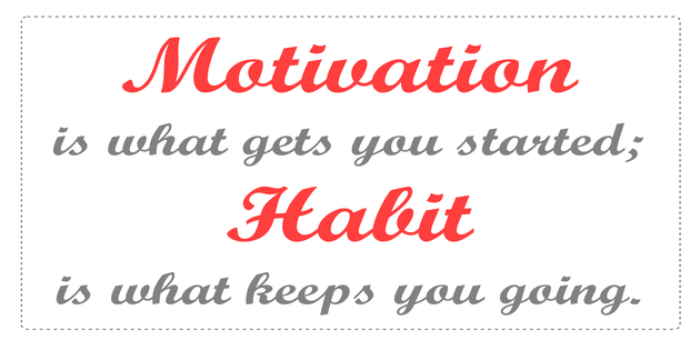 motivation,habit,